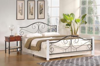 Manželská posteľ Violetta 160 biela