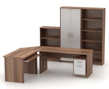 Kancelársky nábytok Johan - slivka/biela