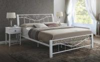 Manželská posteľ Parma 160 - biela/biela