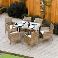 Ratanový set Garden stôl + 6 kresiel