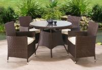 Ratanový set Randel stôl + 4 kreslá 1