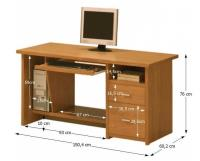 Počítačový stolík Oscar PC01  2