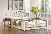 Manželská posteľ Violetta 160 biela 1
