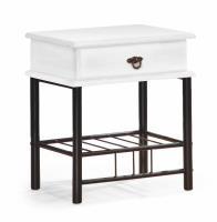 Nočný stolík Fiona biela