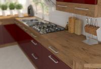 Kuchynská linka Vigo - bordový lesk 6