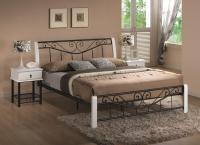 Manželská posteľ Parma 160 - čierna/biela