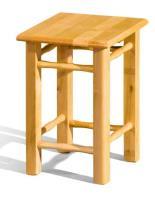 Taburetka P drevená